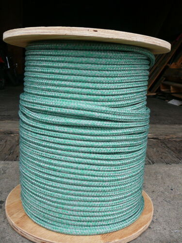"""Super Low Stretch Spectra Sailboat Rigging Rope Line 3//8/"""" x 25/' Green//Silver"""
