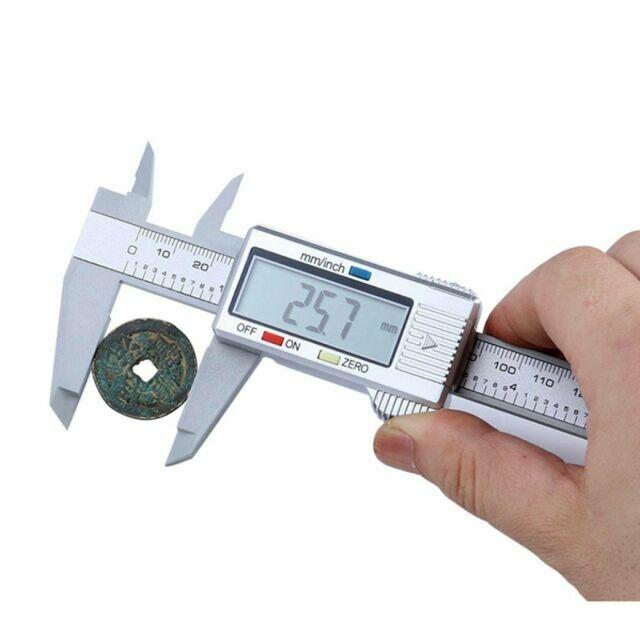 Solid Electronic Digital Vernier Caliper Gauge Micrometer Metric Inch 200mm