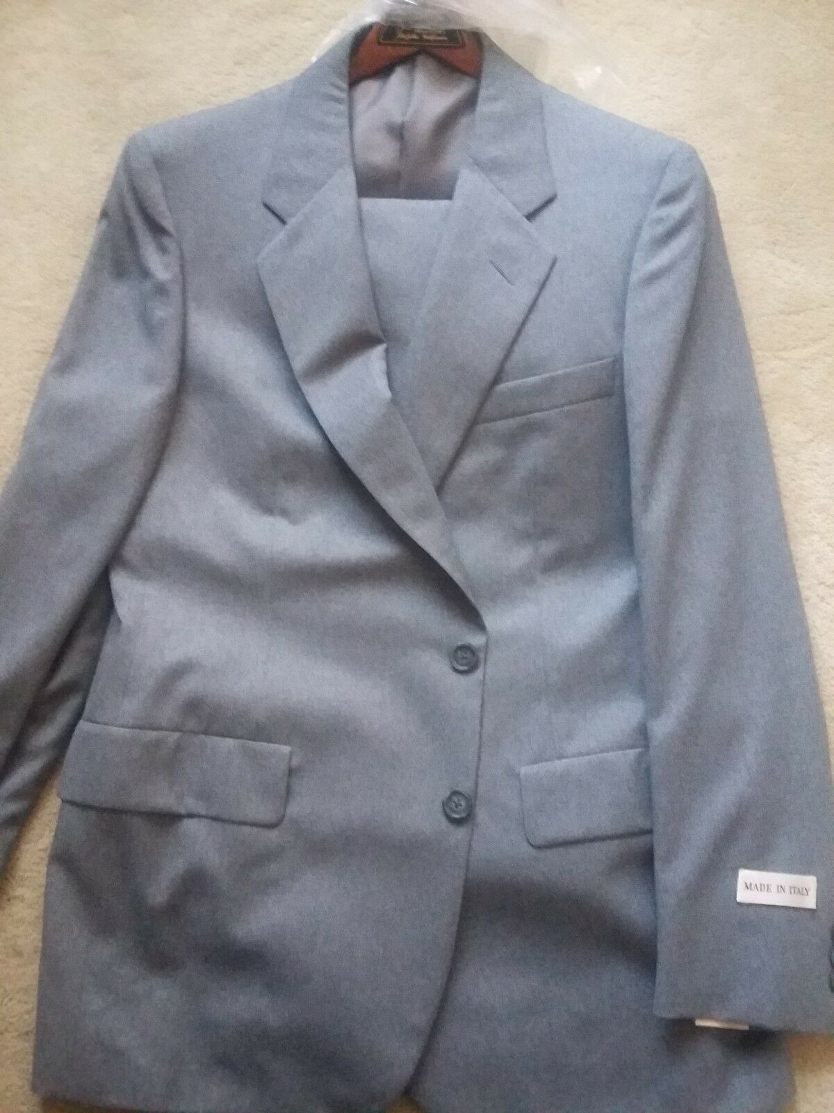 Herren D'Avenza grau wool Suit New With Tags 42L