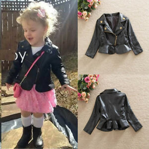 6e89a934 Image is loading Cool-Toddler-Baby-Girls-Autumn-Winter-Leather-Long-