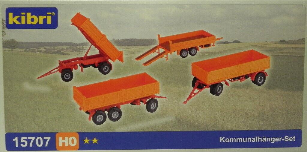Kibri 15707 h0 kommunalhänger-set Kit nuevo /& OVP