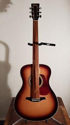 Vintage Ve300sb 'folk' Electro Acoustic Guitar Ve 30 0s B1 Acoustic Electric Guitars Guitars & Basses