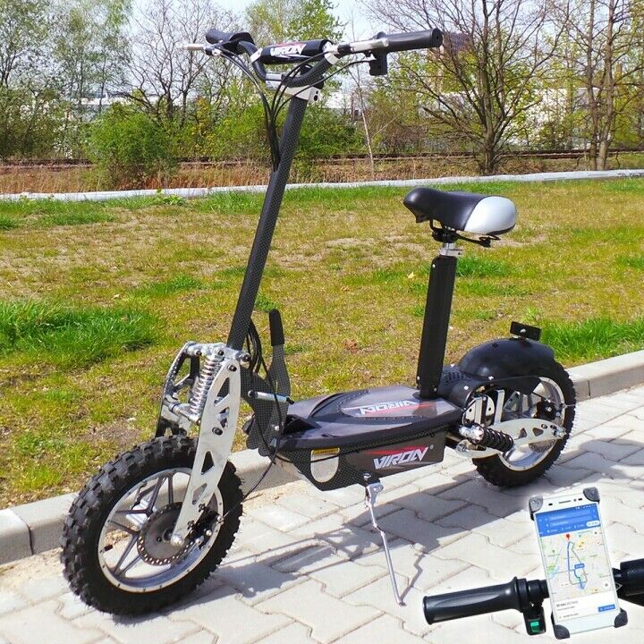 Roller 36V 1000W E-Scooter, Scooter électrique VIRON 1000W negro   calidad oficial