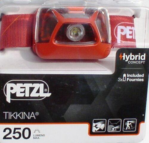 Lampe au Chapeau 250 Lumens Color Blood Orange lumineuse Petzl Lampe Frontale Tikkina