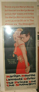 MARILYN-The-Prince-and-the-Showgirl-VF-NM-INSERT-1957-Folded-Bright