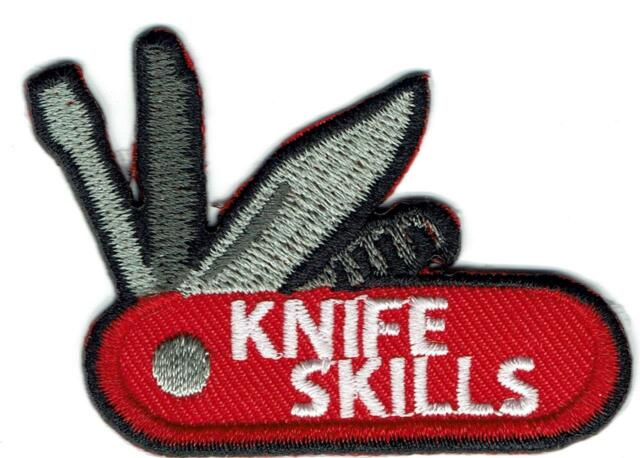Girl Boy Cub Knife Skills Knives Safety Fun Patches Crests Badges Scouts  Guide