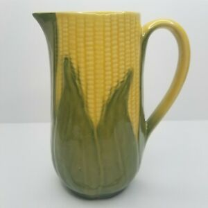 Shawnee-Pottery-Corn-Cob-Pitcher-Yellow-Green