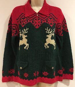 Ralph Lauren Christmas Hand Knit Sweater Reindeer Women's ...
