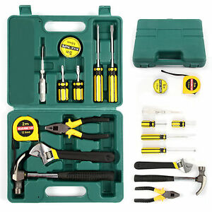 12pcs tech professional basic hand carry tool box kit fix repair home tools set ebay. Black Bedroom Furniture Sets. Home Design Ideas