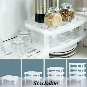 Plate-Dish-Cutlery-Cup-Drainer-Rack-Stackable-Drip-Tray-Holders-Kitchen-Storage