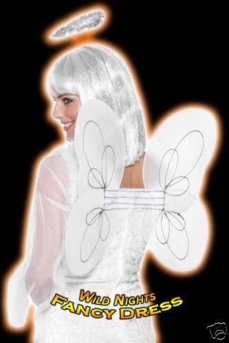 HALO SET FANCY DRESS ACCESSORIES # WHITE ANGEL WINGS