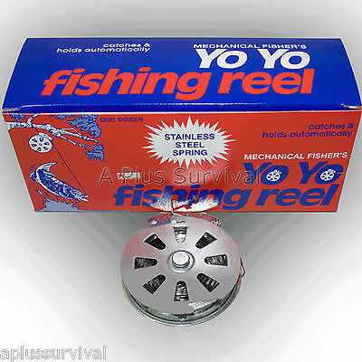 Mechanical Fishing Line Automatic Spring Trap Reel for Survival Hunting Camping