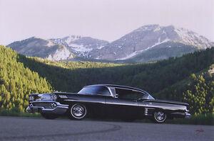 CHEVROLET-1958-IMPALA-Metall-Schild-schwer-USA-FOTOPRINT-Chevy-GM-Blech-sign