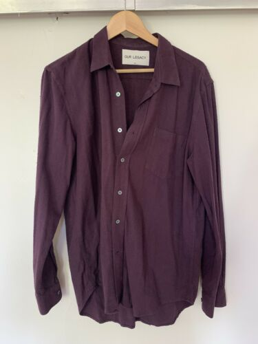 Our Legacy Raw Silk Shirt 50 Large