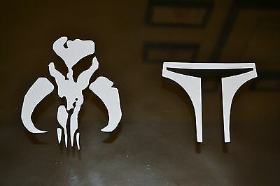 Boba Fett Mandalorian Mythosaur Decal Sticker combo STAR WARS popular character
