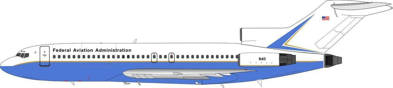 Inflight 200 IF7210717 1/200 Faa Boeing 727-100 727-100 727-100 N40 con Supporto 9d801b