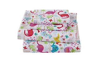 Linen Plus Full Size 4pc Sheet Set for Girls Dinosaur Pink White bluee Purple New