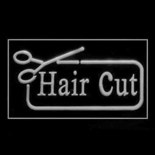 160121 Hair Cut Scissor Smart Salon Hairdresser Beauty Curl Comb LED LIGHT Sign