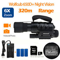 4g Monoculars Night Vision Scope With Built-in Ir 50mm Hunting Recorder+battery