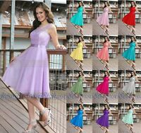 New Formal Knee Length Evening Prom Party Ball Gown Bridesmaid Dress Size 6 - 16