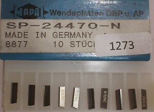 Wendeplatten MAPAL SP-24470-N / 8877 - Giebelstadt, Deutschland - Wendeplatten MAPAL SP-24470-N / 8877 - Giebelstadt, Deutschland