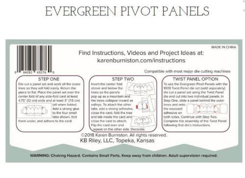 KB Riley Karen Burniston Cutting Die Set EVERGREEN PIVOT PANELS ~3D Cards ~1062