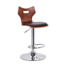 Amery Walnut and Black Modern Bar Stools (Set of 2) Kitchen Home Furniture Decor