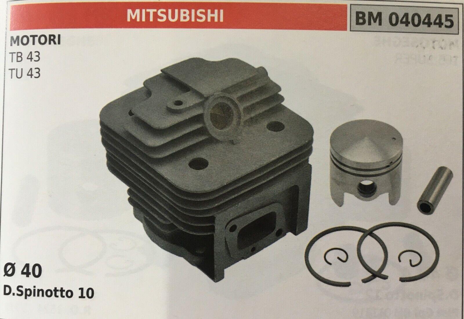 CILINDRO COMPLETO DI PISTONE E SEGMENTI BRUMAR BM040445 MITSUBISHI