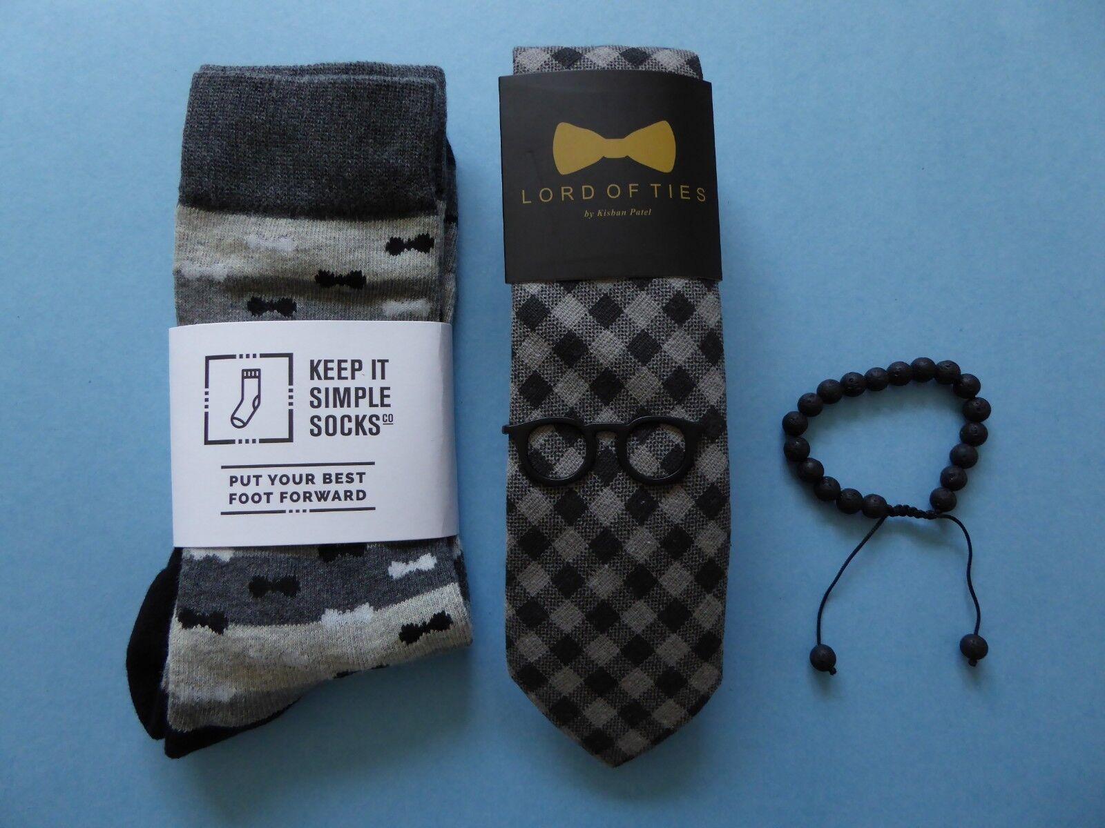 Lord of Ties Tie + Keep it Simple Bow Tie Socks + Tropicalia Bracelet + Tie Clip