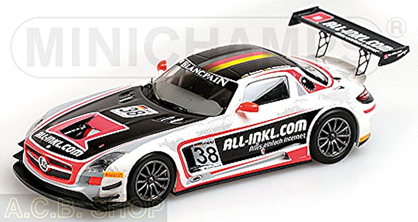 scegli il tuo preferito MERCEDES SLS AMG gt3 fia gt1 WC WC WC CHAMPION 2012   38 1 43 Minichamps  all'ingrosso a buon mercato