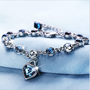 SILBER-Armband-Armkette-Zirkon-Geschenk-Schmuck-Silberkette-fuer-Damen-Frauen