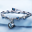 SILBER-Armband-Armkette-Zirkon-Geschenk-Schmuck-Silberkette-fuer-Damen-Frauen Indexbild 1