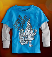 77kids By American Eagle Boys Size 2 2t Or 3 3t Long Sleeve Skate Tee Shirt