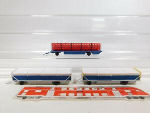 CL15-0-5-3x-Preiser-H0-1-87-Anhaenger-Zirkus-Krone-21022-Zaunwagen-etc-sehr-gut