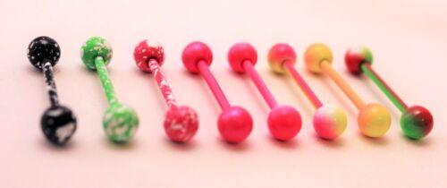 Fancy Pattern Coloured Bar Straight 18mm Industrial Earring Ear Body Piercing 14