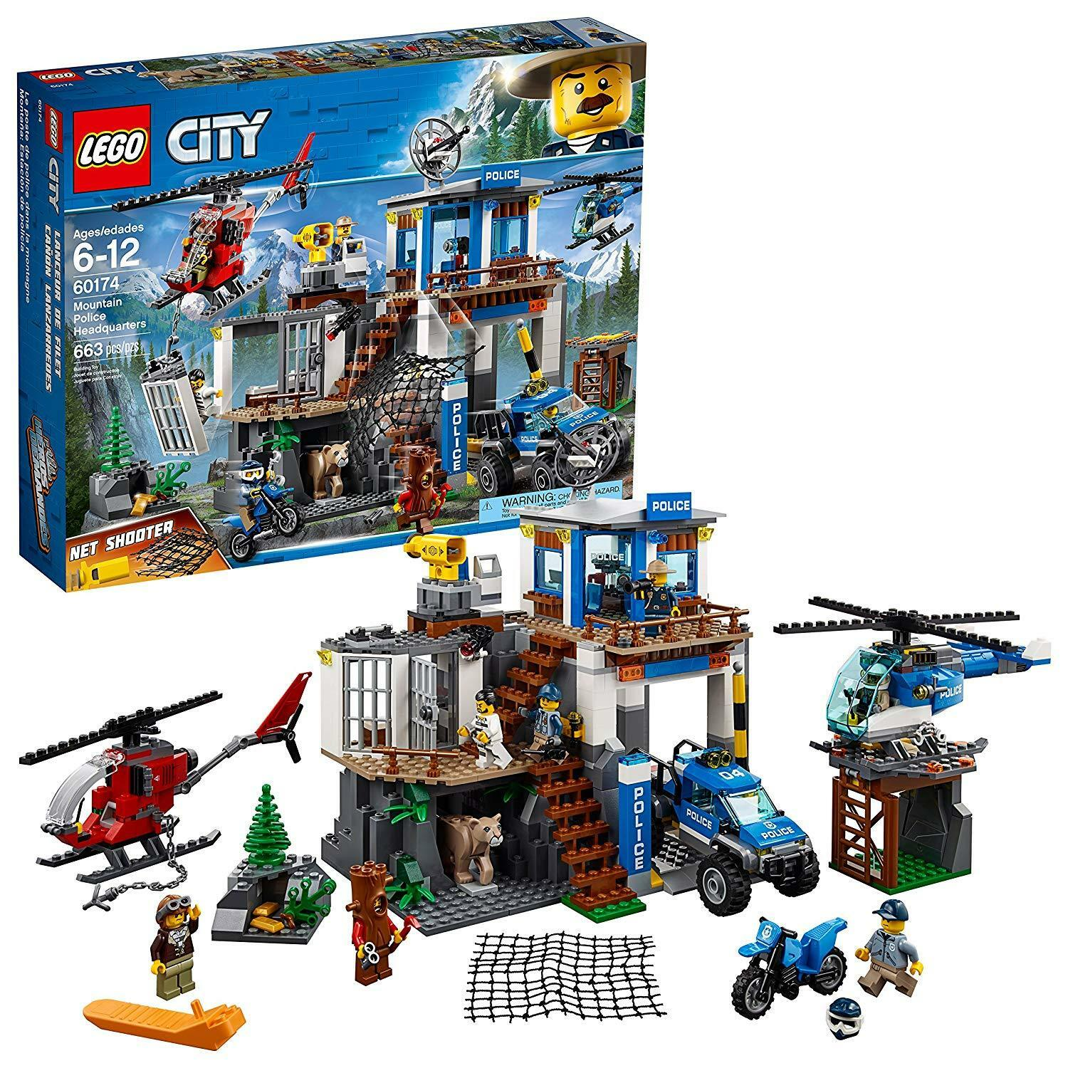 LEGO 60174 City Mountain Police Headquarters Building Kit 663 663 663 Pieces BRAND NEW ed4e9b