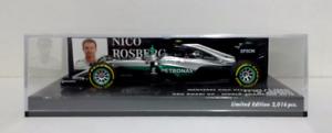 MINICHAMPS 1//43 NICO ROSBERG MERCEDES AMG PETRONAS F1 W07 WC ABU DHABI 2016 NEW