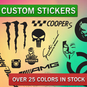 Details About Custom Personalized Vinyl Stickers Decals Cutting Any Text Or Shape You Wish