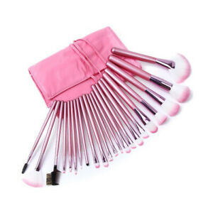 22pcs/Set Makeup Brushes Face Powder Eyeshadow Lip Brush Kit Free Pouch Bag by Unbranded