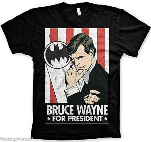 BATMAN Bruce Wayne President  T-Shirt  camiseta cotton officially licensed