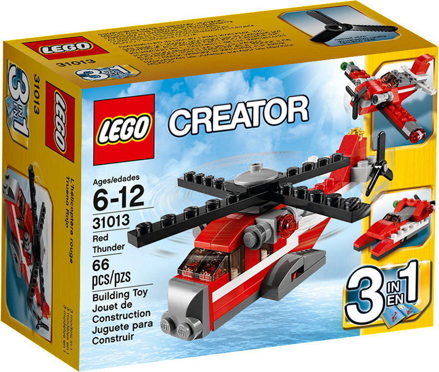 LEGO CREATOR  31013 ROT Thunder 3in1 Set NEW IN BOX  66pcs