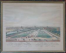 Wien vom Belvedere, handkol Radierung, Artaria 1833, Abzug 20.Jhdt, gerahmt