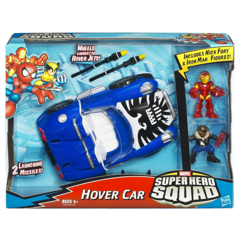 MARVEL HEROES SQUAD SHIELD HOVER CAR   JET vehicle & figures, dc imaginext