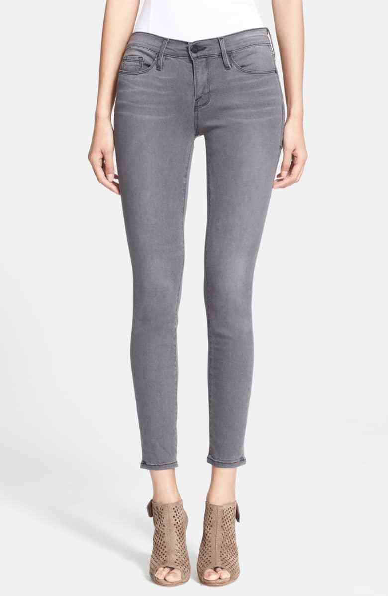 FRAME Denim Le Skinny De Jeanne in Greys Inn Size 24
