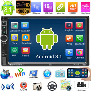 7in-2Din-Android-8-1-Quad-Core-GPS-Navi-WiFi-BT-Car-Stereo-MP5-Player-FM-Radio