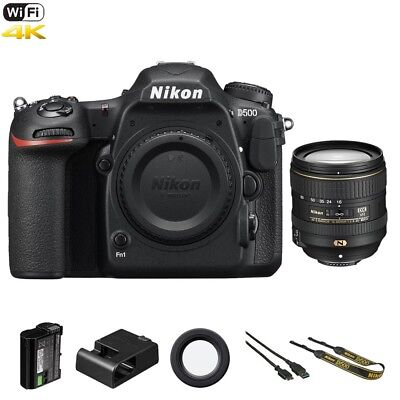 Nikon D D500 20.9 MP DSLR Camera - Black (Kit w/ 16-80mm AF-S DX ED VR Lens)