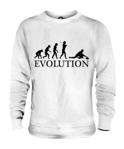 CURLING EVOLUTION OF MAN UNISEX SWEATER  Herren Damenschuhe LADIES GIFT CURLER STONES