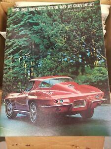 1966 Corvette Sting Ray Chevrolet Showroom Advertising Brochure