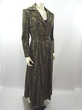 Home Sewn Matrix Style Snakeskin Print Fully Lined Trench Coat Jacket Gold Hooks