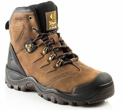 Buckler Buckshot BSH007 S3 brown Leather Supertough Anti-scuff Toe safety boot